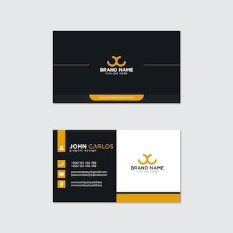 Moderne professionele visitekaartje ontwerp vector