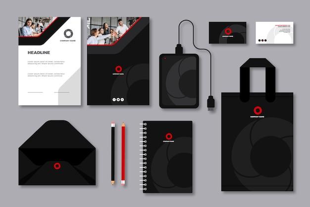 Moderne professionele zakelijke briefpapier set