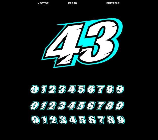 Moderne race nummer ontwerpsjabloon