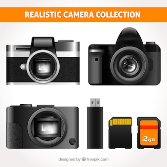Moderne realistische camera collectie