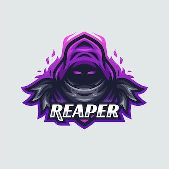 Moderne reaper esport logo sjabloon