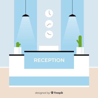 Moderne receptiesamenstelling met plat ontwerp