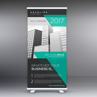 Moderne reclame roll up display banner template