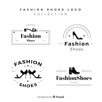Moderne reeks kleurrijke schoenemblemen