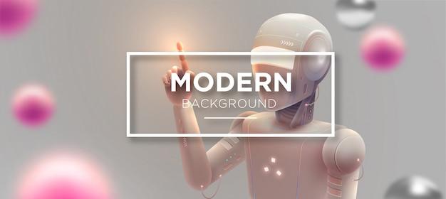 Moderne robotachtige achtergrond