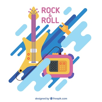Moderne rock and roll achtergrond