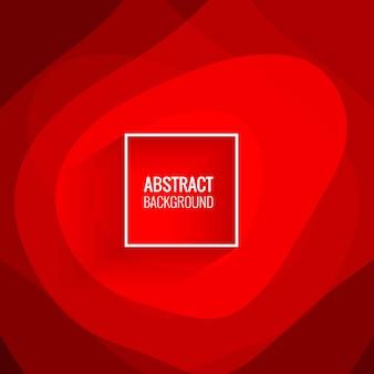 Moderne rode papercut achtergrondillustratie