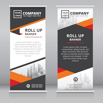 Moderne roll-up banner ontwerpsjabloon