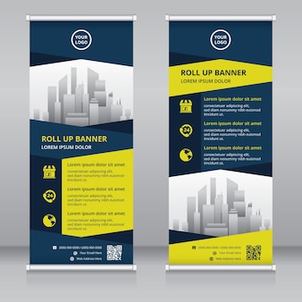 Moderne roll-up banner ontwerpsjabloon