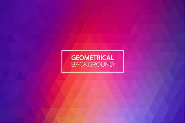 Moderne rood blauw gradiënt geometrische achtergrond