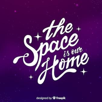 Moderne ruimteachtergrond met citaat