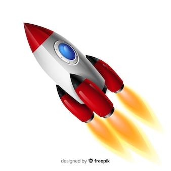 Moderne ruimteraket met realistisch ontwerp