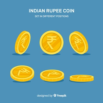 Moderne samenstelling van indische roepies