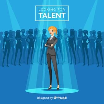 Moderne samenstelling van talentzoekers