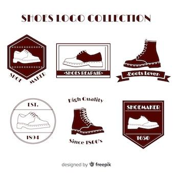 Moderne schoenen logo sjabloonverzameling