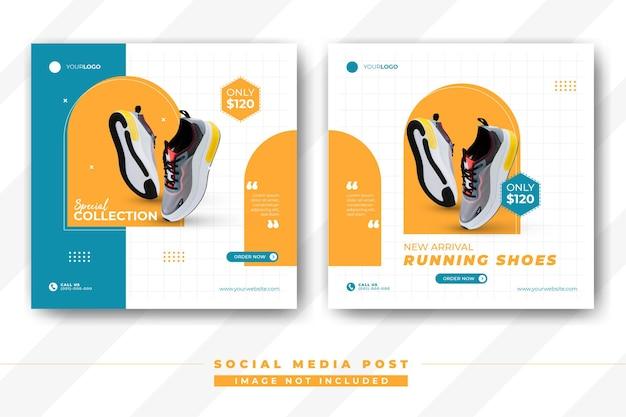 Moderne schoenen sociale media plaatsen sjabloon voor spandoek schoenen