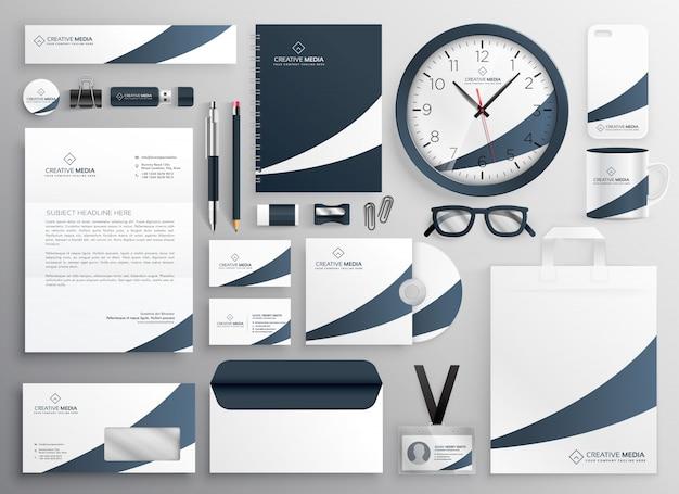 Moderne schone merk briefpapier sjabloon set
