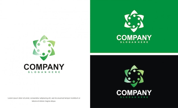Moderne schoonheid abstract logo ontwerpsjabloon