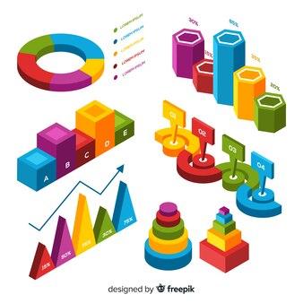 Moderne set infographic elementen