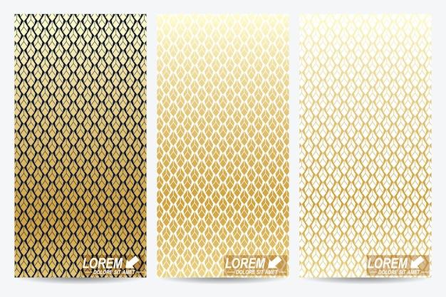 Moderne set van folders in arabische stijl.