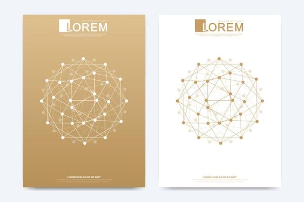 Moderne sjabloon voor brochure folder flyer advertentie illustratie