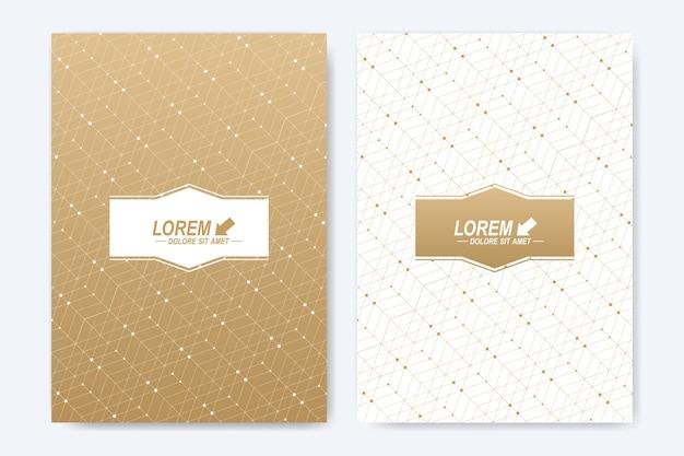 Moderne sjabloon voor brochure, folder, flyer, omslag, boekje, tijdschrift of jaarverslag.