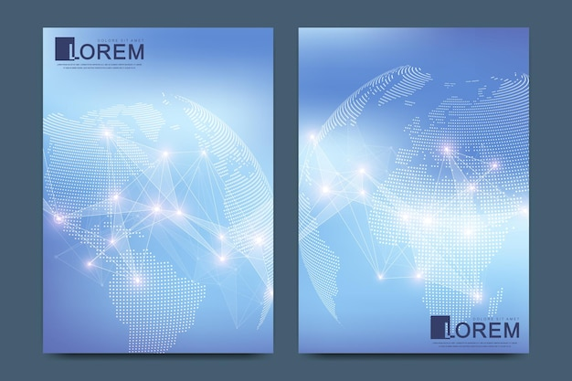 Moderne sjabloon voor brochure leaflet