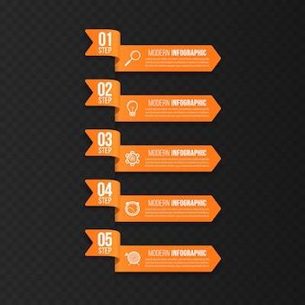 Moderne sjabloon voor het maken van infographics