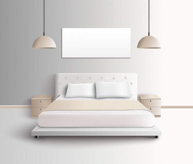 Moderne slaapkamer interieur samenstelling