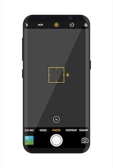 Moderne smartphone met camera-applicatie.