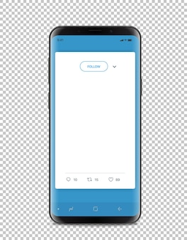 Moderne smartphone met messenger