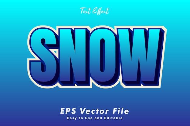 Moderne sneeuw teksteffect sjabloon typografie effect sjabloon