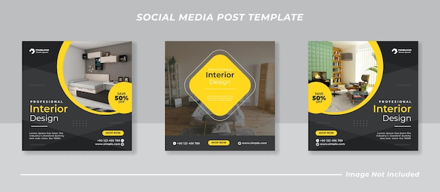 Moderne social media instagram feed post banner bundel