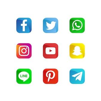 Moderne sociale media iconen