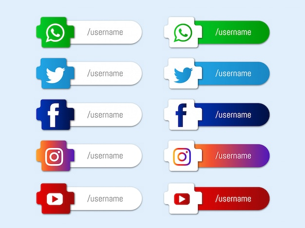 Moderne sociale media lagere derde pictogrammenverzameling