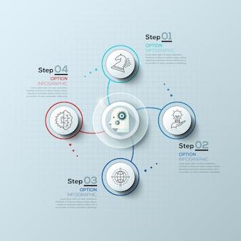 Moderne spiraalvormige infographicsopties