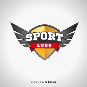 Moderne sport logo sjabloon met abstract ontwerp