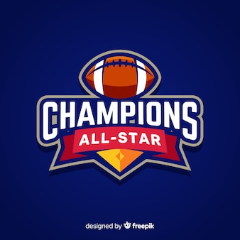 Moderne sport logo sjabloon met platte ontwerp