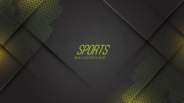 Moderne sport neon gaming abstracte achtergrond met geometrische vormen verloop