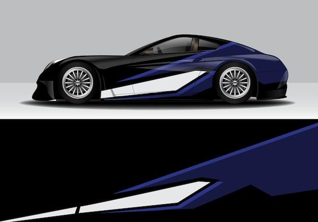 Moderne sportieve abstracte race auto wrap, sticker sticker