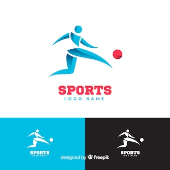 Moderne sportlogotype collectie