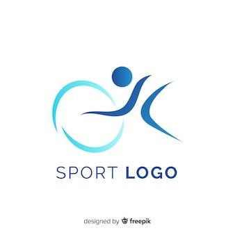 Moderne sportlogotype collectie