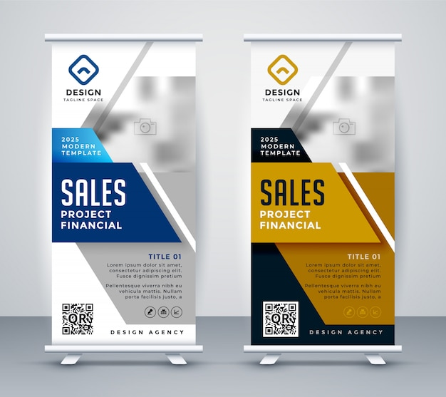 Moderne standee rollup banner voor marketing