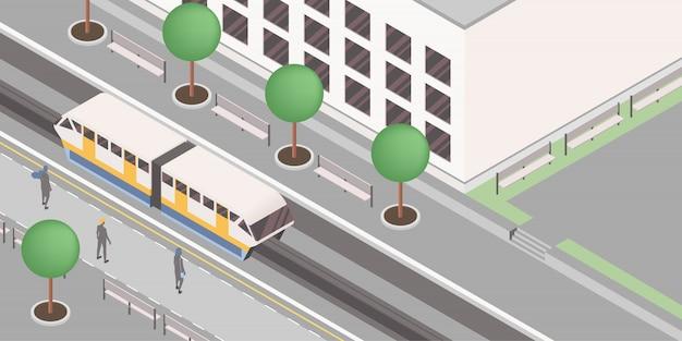 Moderne stedelijke spoorweg