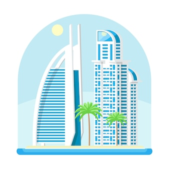 Moderne stedelijke stad zee kust