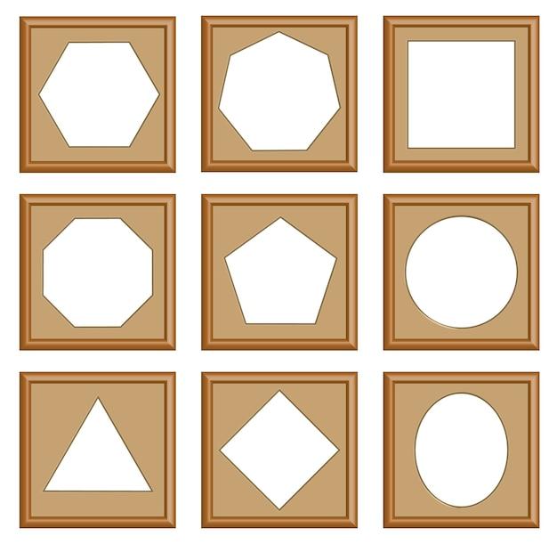 Moderne stijl frames instellen