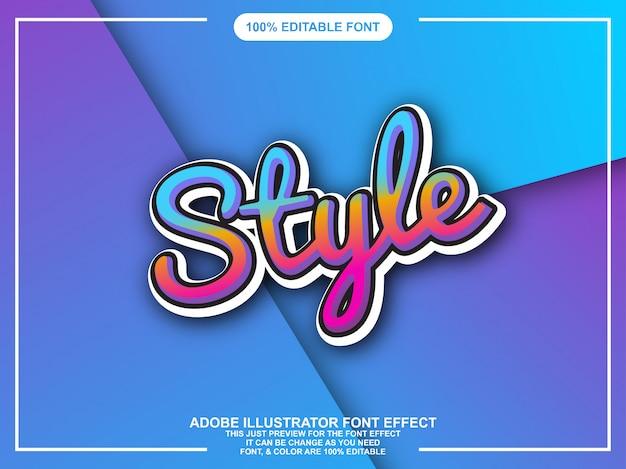 Moderne stijl teksteffect bewerkbare typografie