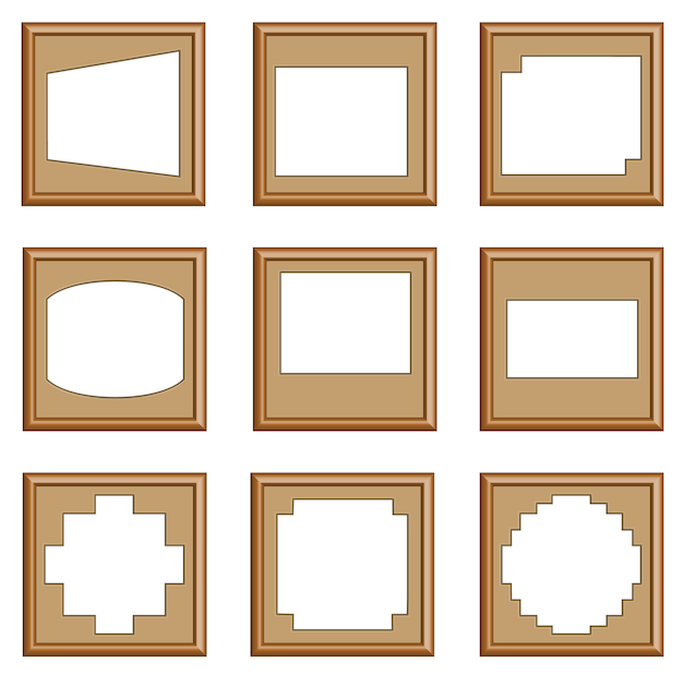 Moderne stijl van houten frames