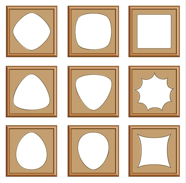 Moderne stijl van houten kozijnen