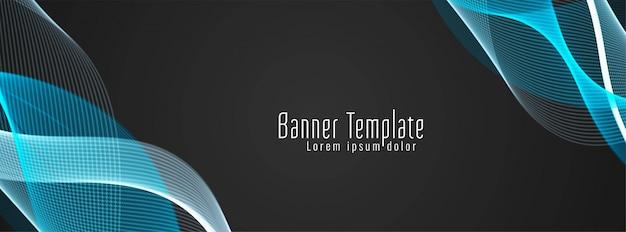 Moderne stijlvolle kleurrijke golvende banner
